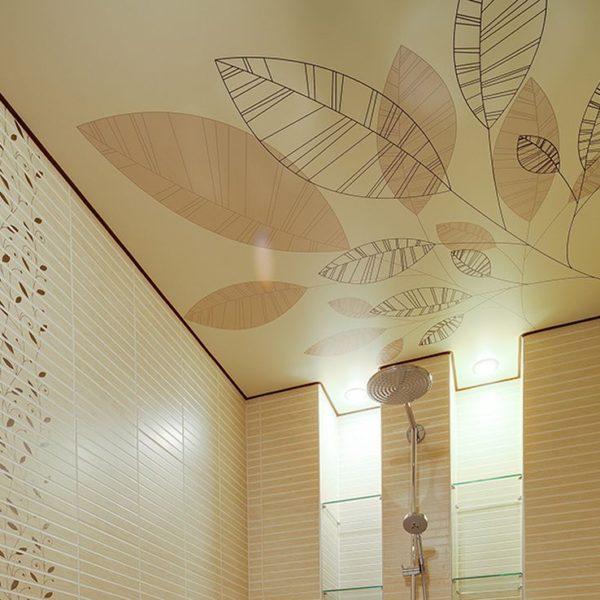 Купить натяжной потолок с фотопечатью недорого