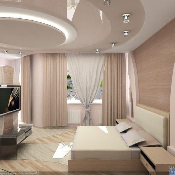 Заказать двухуровневый натяжной потолок в Минске