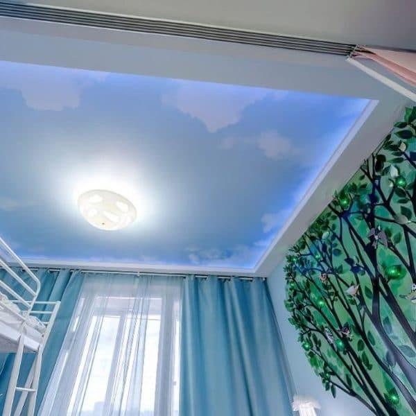 Натяжной потолок с фотопечатью купить дешево