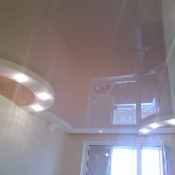 Глянцевые натяжные потолки Минск фото