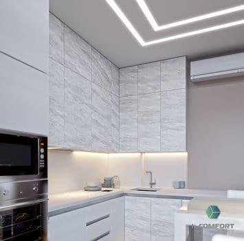 Натяжные потолки на кухну